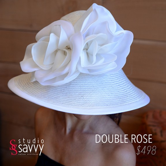 Double Rose Woman's Hat. Come out for the Studio Savvy Salon Trunk Show-Hat Sale, July 13th, 2016