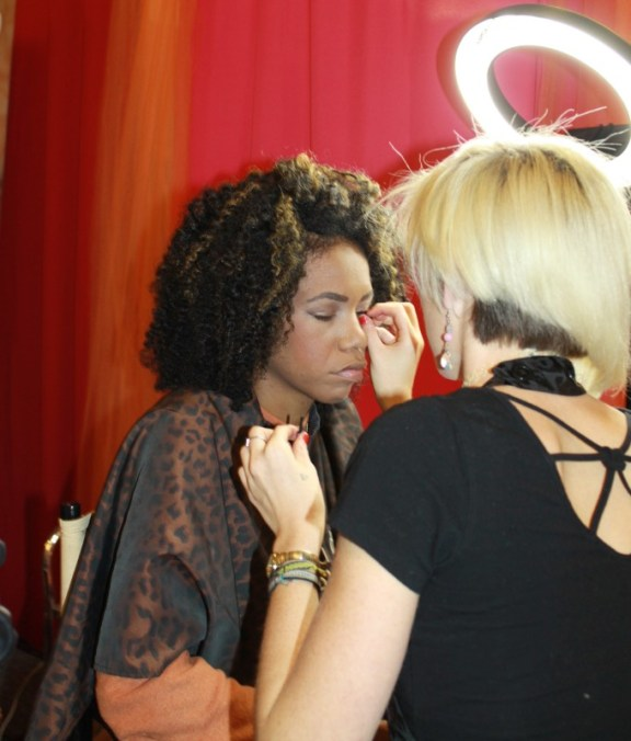 Kyla Rose Ault Studio Savvy Rancho Santa Fe hair and makeup design stylist at wedding expo marriot marquis