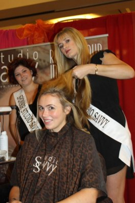 Kassidy Vaughan and Desiree Balmos Rancho Santa Fe Studio Savvy Salon hair design stylist wedding fashion runway show