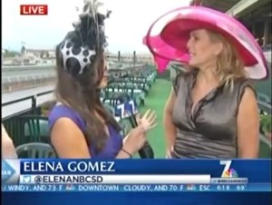 Deena discussing Opening Day hats, hair and fashion on NBC 7 News in the morning