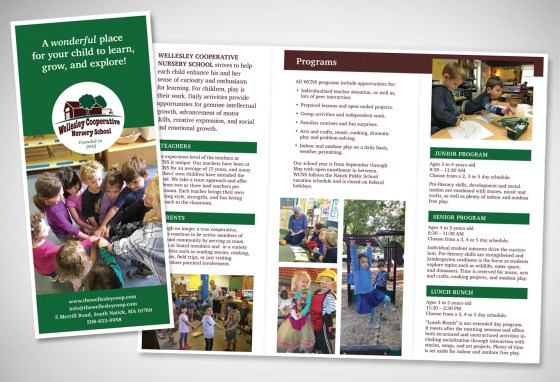 Wellesley Cooperative Nursery School Brochure