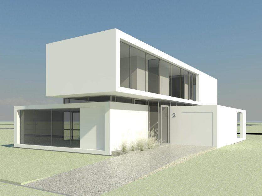 Villa bouwkundig ontwerp