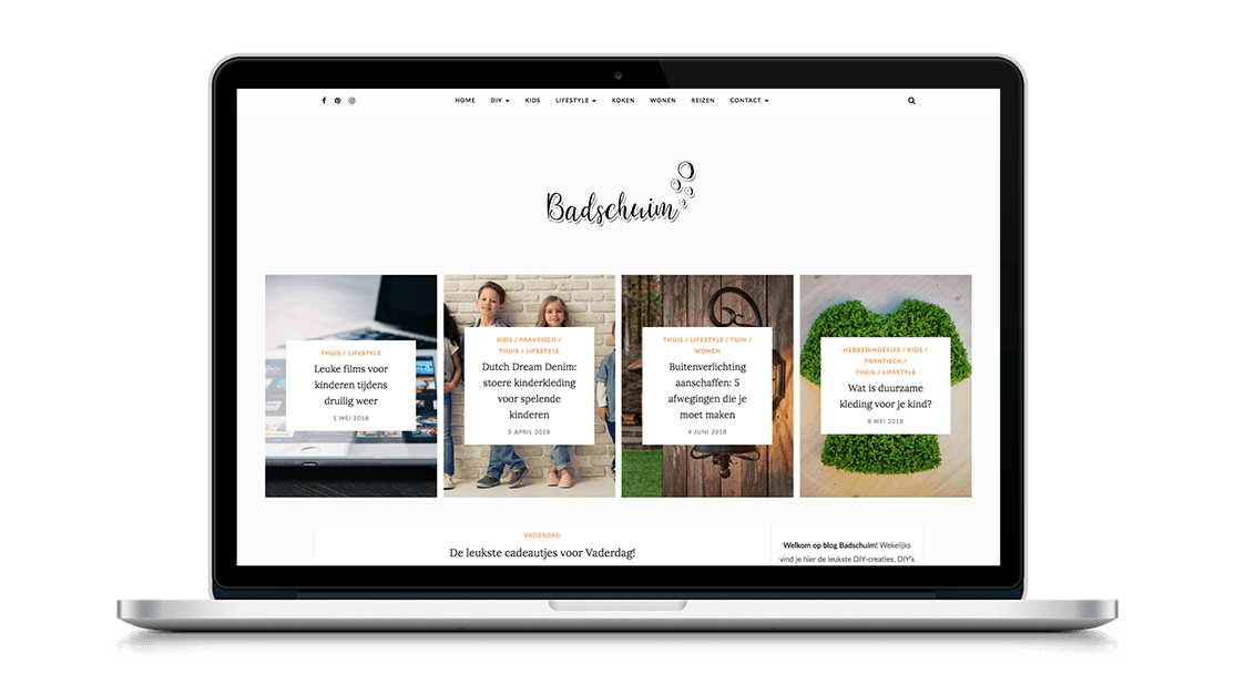 Website Badschuim door Studio Solveig