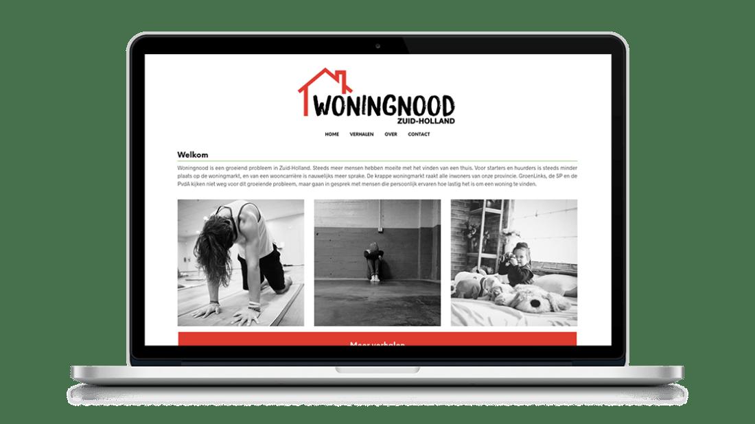 Website Woningnood Zuid-Holland door Studio Solveig