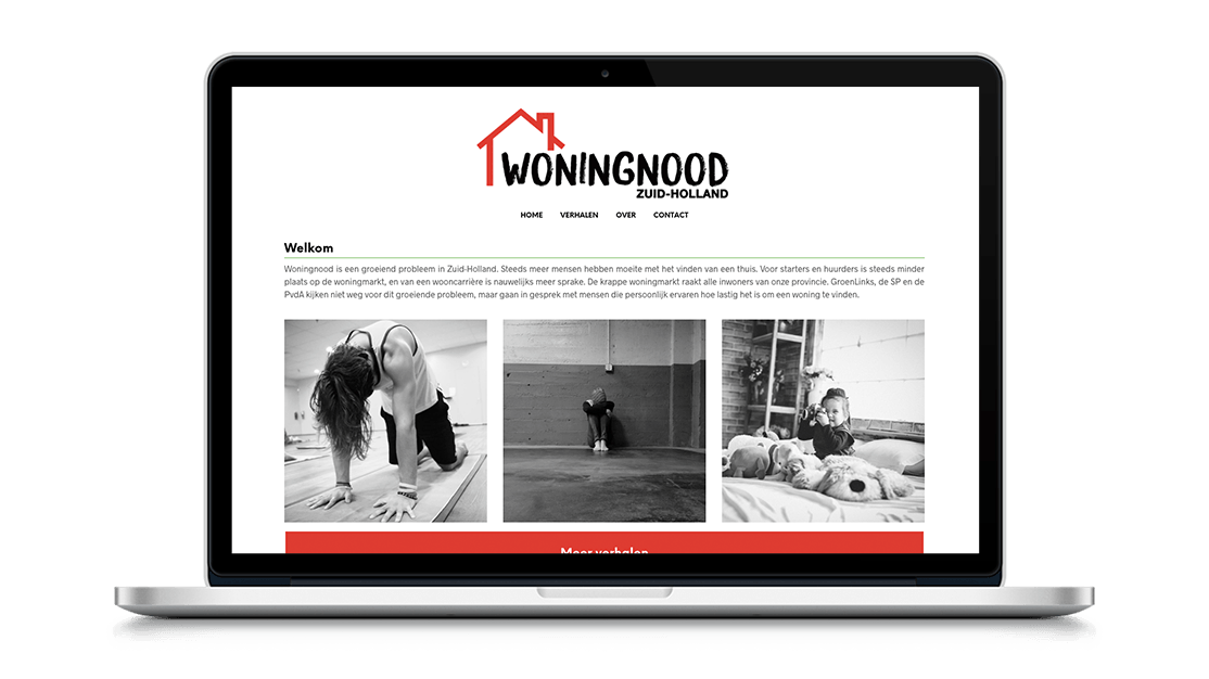 Website Woningnood Zuid-Holland door Studio Solveig