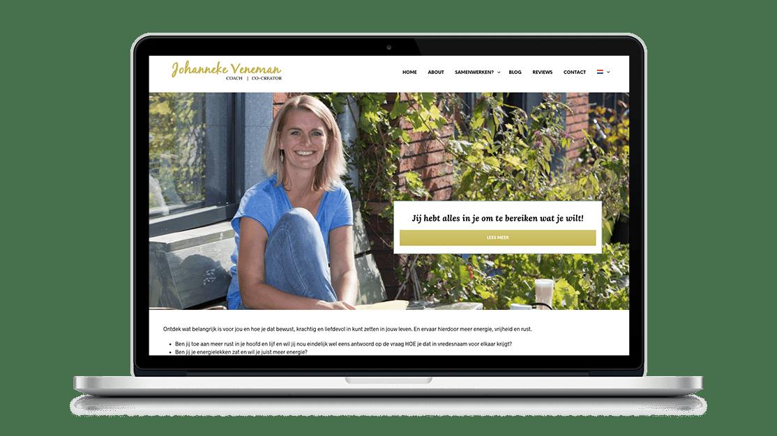 Website Johanneke Veneman door Studio Solveig