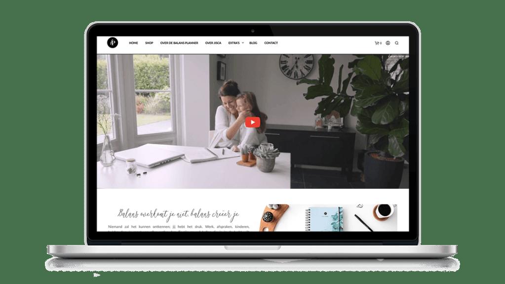Website Balansplanner door Studio Solveig
