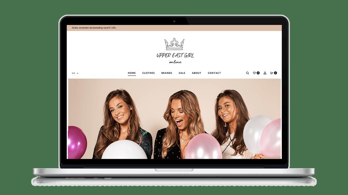 Website UpperEastGirl door Studio Solveig