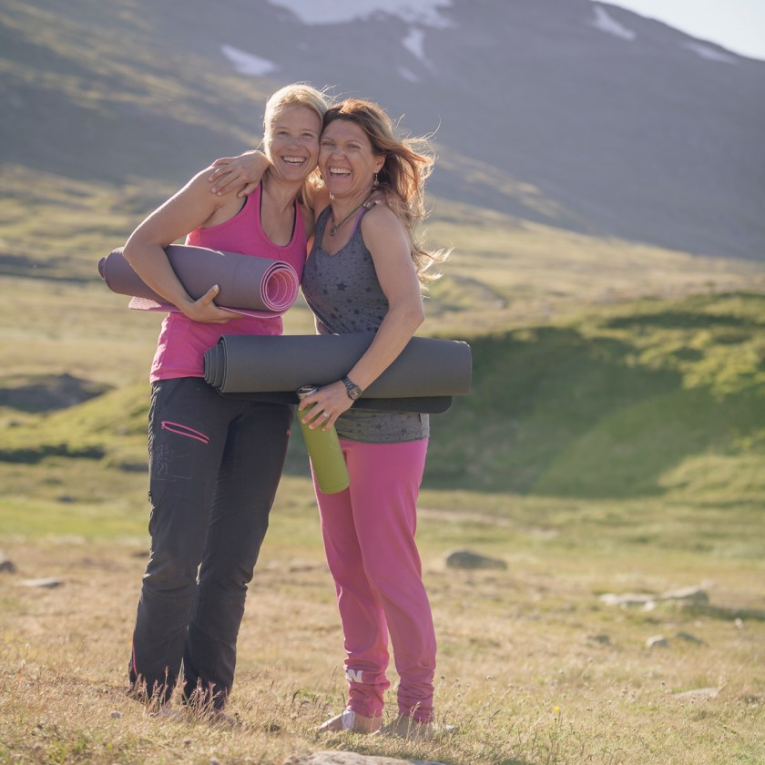 Evelina Åslund, Cecilia Götherström, Studio Stark, JoyEvent, Yoga, Hiking, Midnight Sun, vacation, retreat, Helags, National Park, Lapland , Sweden
