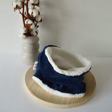 blauwe ribflwueel sjaal