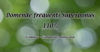 Domande frequenti superbonus 110%