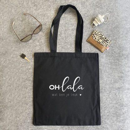 Katoenen tas - Ohlala wat ben je leuk