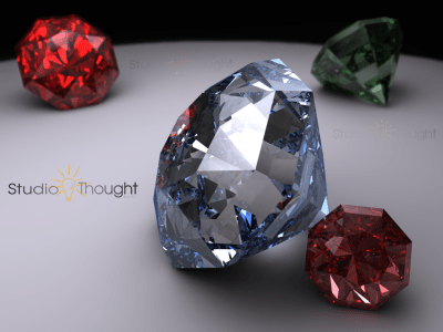 Diamonds Are Forever! Product Visualization and Virtual Photography example.