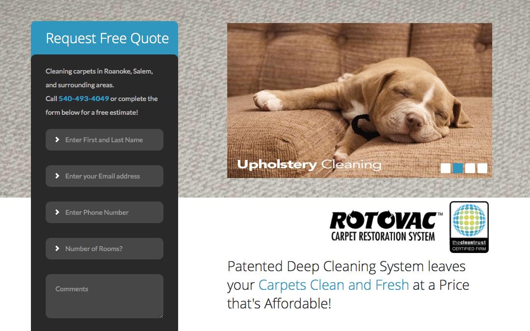 Clean Carpet Solutions website redesign