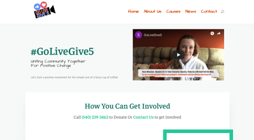 #GoLiveGive5