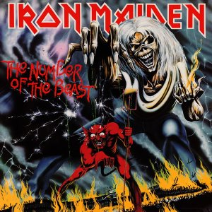 Pochette du troisième album d'Iron Maiden : The Number Of The Beast (1982)