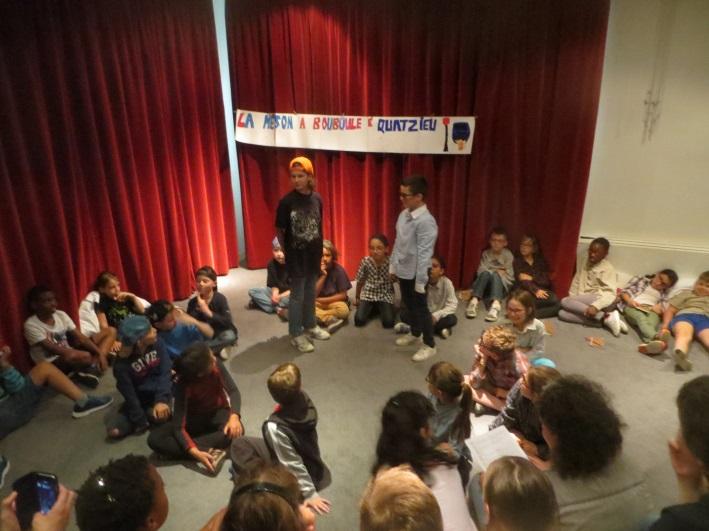 Les élèves de CE2 de l'école élémentaire Auron Bourges sont des comédiens !