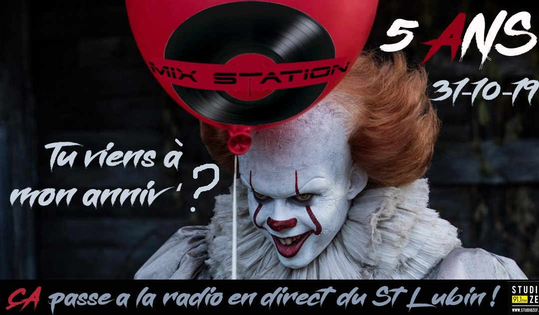 – Anniversaire Mix Station – Gustave + Mack's B (AvrD Sound) – Halloween Party – Bar le Saint Lubin –