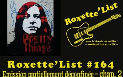 La Roxette'List #164 diffusée sur Studio Zef le 21/05/2020 : émission partiellement déconfinée – 2