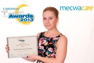 Sarah Ham proudly displaying the winning certificate!