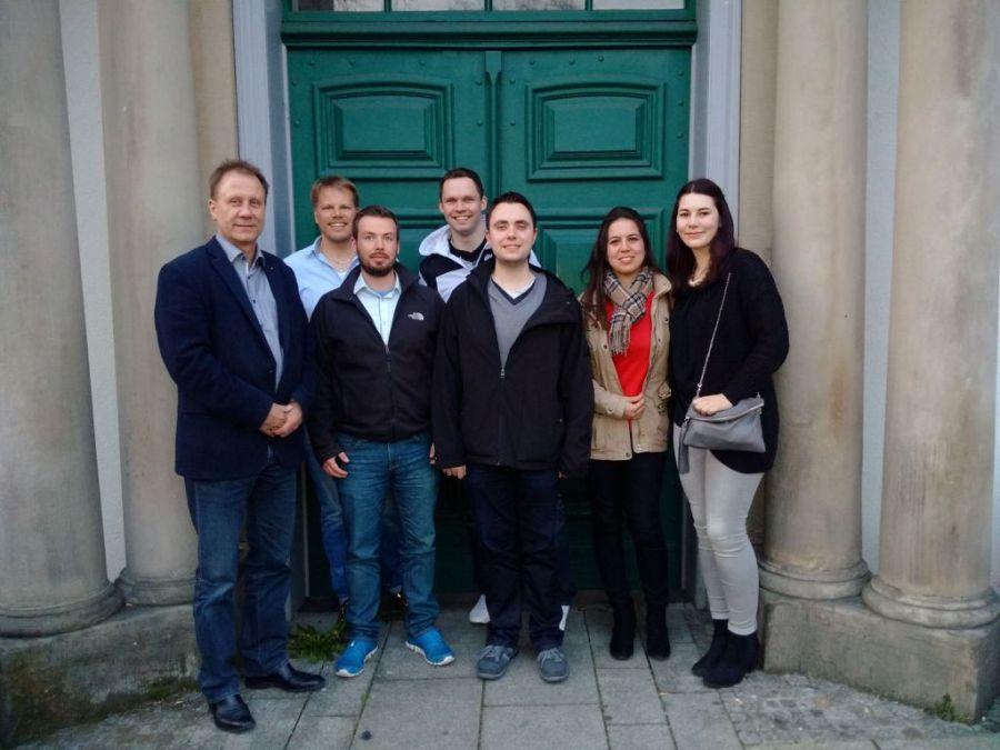 v.l.n.r.: Gerd Reddig, Thomas Herink, Patrick Walter, Patrick Geiser, Thorben Teyke, Emel Sönmez, Anastasia Wittmer