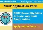 NEST 2020 Application Online by Stud Mentor