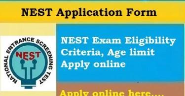 NEST 2020 Application Online by Stud Mentor