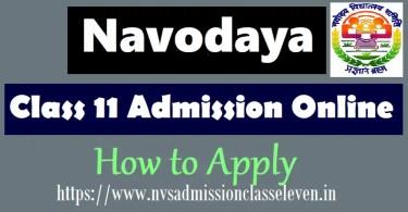Jawahar Navodaya Vidyalaya 11th class admissions 2019 on Stud Mentor