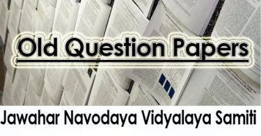 Navodaya Class VI IX Question Papers