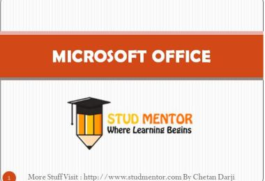 Microsoft Office Tutorial 2019 Latest