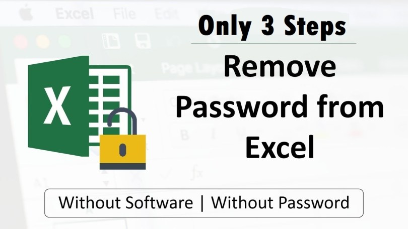 Only 3 Steps to Unlock the Excel File