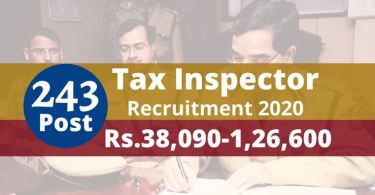 State Tax Inspector New Recruitment 2019-20
