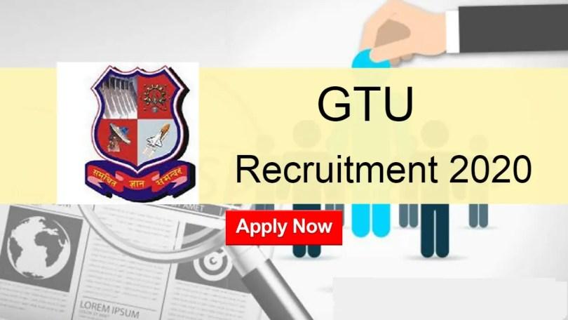 GTU Recruitment 2020 All Non Teaching Post