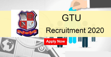 GTU Recruitment 2020 All Non Teaching Post