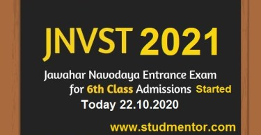 jnvst-2021-for-Class-vi started today