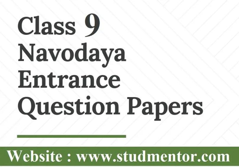 Navodaya class Ix previous yeras papers 2020