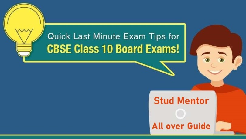 10 tips for upcoming cbse board exam
