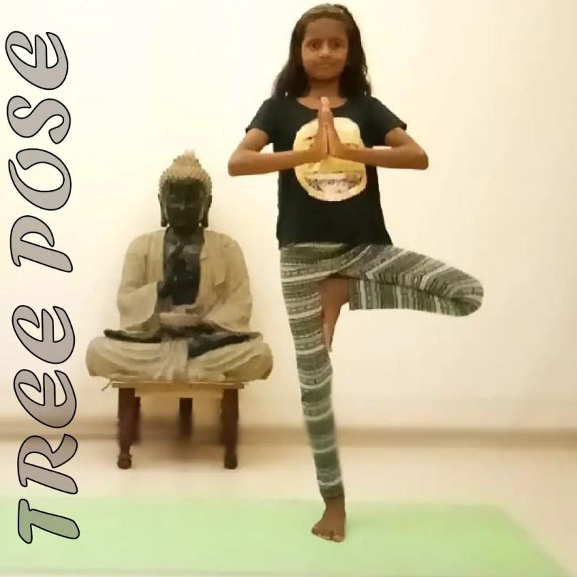 tree Pose Kids for Yoga