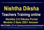 Nishtha 2.0 Diksha Portal Module 2 Quiz 2021 Answer