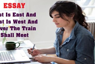 East Is East And West Is West And Never The Train Shall Meet
