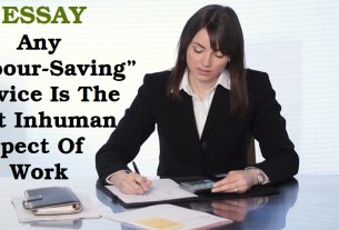 """Any """"Labour-Saving"""" Device Is The Most Inhuman Aspect Of Work"""