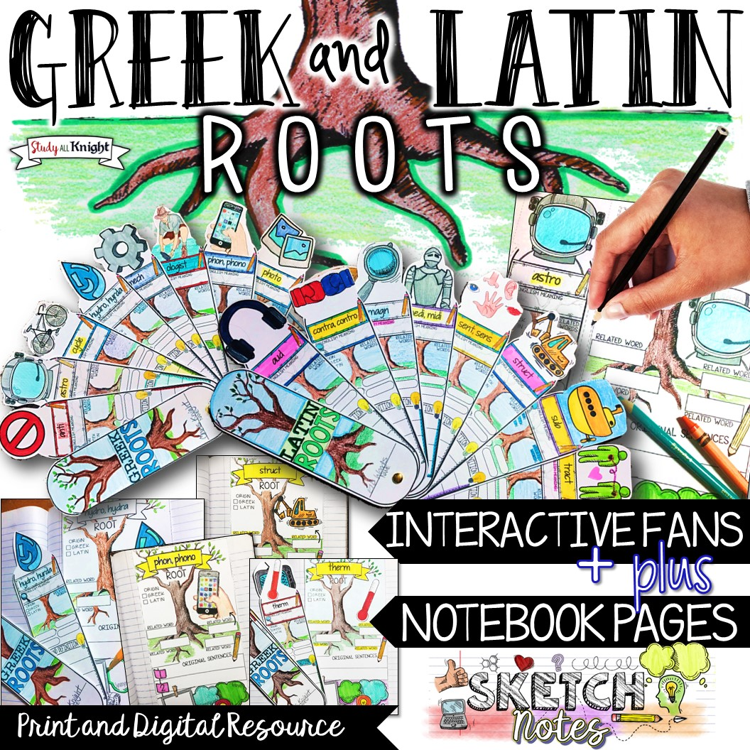 Greek And Latin Roots Vocabulary Interactive Sketch Notes