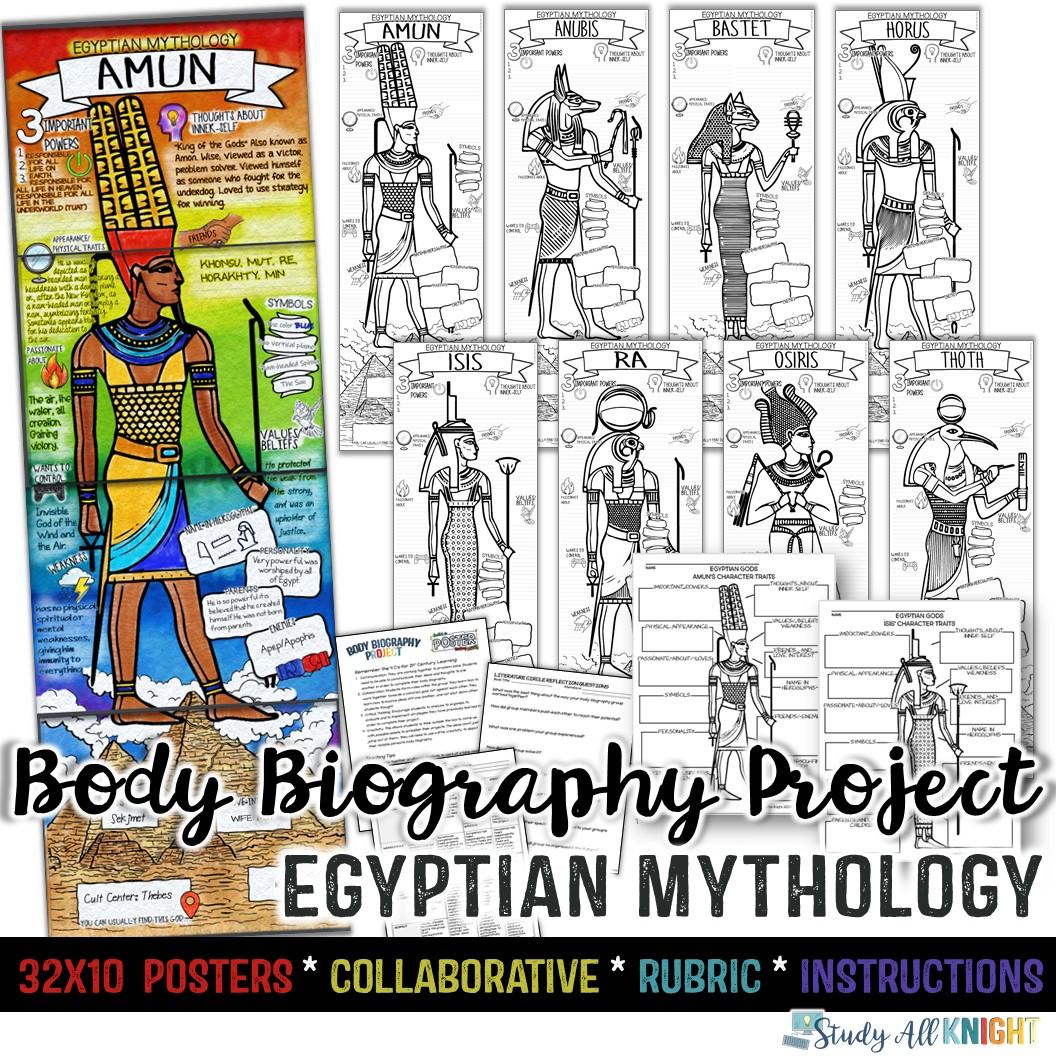 Egyptian Gods Egyptian Mythology Body Biography Project