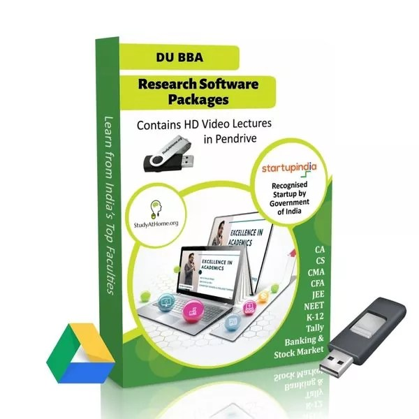 Research Software Package for BBA DU (Delhi University) by CA Raj K Agrawal