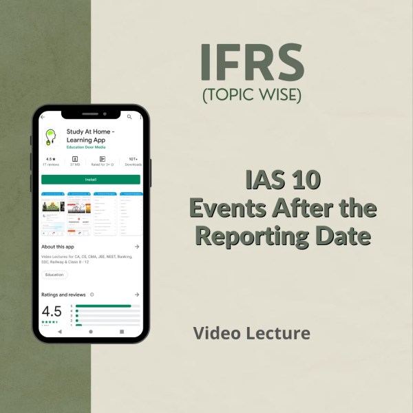 IAS 10 - Events After the Reporting Date
