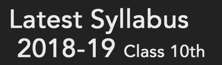 class 10th syllabus
