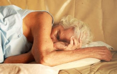 elderly, senior sleeping