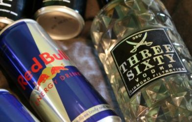 energy drinks and vodka