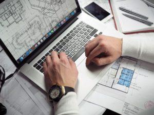 laptop, work
