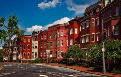 Homes in a city neighborhood